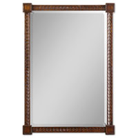 Uttermost 01902 Sabadell 47 X 33 inch Jacobean Stained Primavera & Hardwood Wall Mirror thumb
