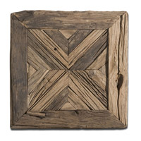 Uttermost Rennick Wall Art in Rustic Reclaimed Pine Wood 04014