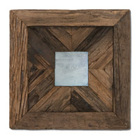 Uttermost Rennick Mirror in Rustic Reclaimed Pine Wood 04018