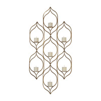 Uttermost 04049 Rovena 29 inch Antiqued Gold Wall Sconce Wall Light, Candle thumb