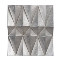 Maxton Champagne Silver Multi-Faceted Panel, Set of 3