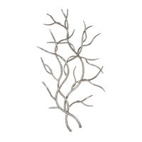 Silver Branches Bright Silver Wall Art, Set of 2