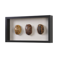 Uttermost 04068 Tortoise Shells Oatmeal Linen/Matte Black Shadow Box, Hand Painted 04068-A.jpg thumb