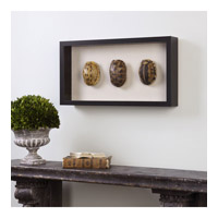 Uttermost 04068 Tortoise Shells Oatmeal Linen/Matte Black Shadow Box, Hand Painted 04068-A1.jpg thumb