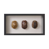 Uttermost 04068 Tortoise Shells Oatmeal Linen/Matte Black Shadow Box, Hand Painted thumb