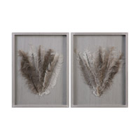 Jalana Ostrich Feathers Shadow Box