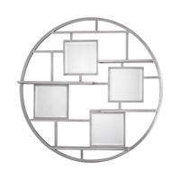 Uttermost 04089 Zaria 40 inch Wall Mounted Shelves, Mirrored, Round, Grace Feyock