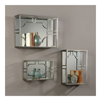 Uttermost 04113 Adoria 17 inch Antiqued Silver Leaf Wall Mounted Shelves