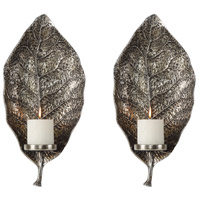 Uttermost 04138 Zelkova 20 X 9 inch Wall Candleholders, Set of 2
