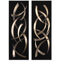 Uttermost 04139 Brushstrokes 47 X 16 inch Metal Wall Art, Set of 2