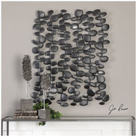 Uttermost 04144 Skipping Charcoal Black with Silver Wall Accent 04144-Lifestyle.jpg thumb
