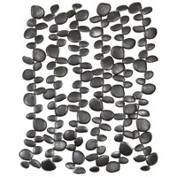 Uttermost 04144 Skipping Charcoal Black with Silver Wall Accent thumb