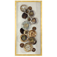 Uttermost 04152 Myla Multicolored and Metallic Gold Leaf Antique Plate Shadow Box thumb