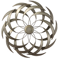 Uttermost 04161 Barnes Aged Rustic Galvanized Wall Art