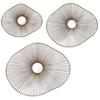 Uttermost 04182 Avarie 25 X 21 inch Metal Wall Art, Set of 3