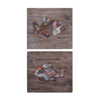 Uttermost Fresh Fish Set of 2 Wall Art 04272