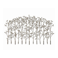 Uttermost Iron Trees Metal Wall Art in Antiqued Silver Champagne 05018 photo thumbnail