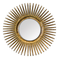 Uttermost 05032 Destello 39 X 39 inch Gold Starburst Mirror Home Decor
