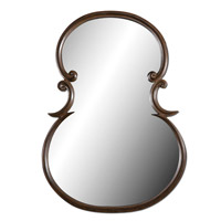 Uttermost Etienne Mirror in Distressed Wood Tone 06001