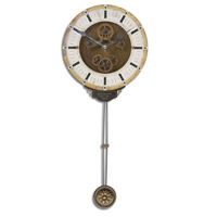 Uttermost Mini Leonardo Cream Wall Clock in Weathered Laminated Clock Face 06008