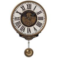 Uttermost Vincenzo Bartolini Cream Clock in Weathered Laminated Clock Face 06021