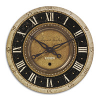 Uttermost Auguste Verdier Clock in Weathered Laminated Clock Face 06028