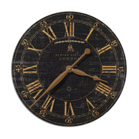 Uttermost Bond Street 18in Clock in Laminated Clock Face 06029