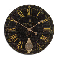 Uttermost Bond Street 30in Clock in Laminated Clock Face 06030