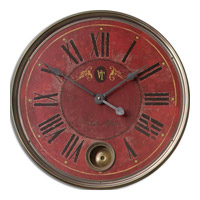 Uttermost Regency Villa Tesio Clock in Weathered Laminated Clock Face 06037