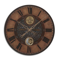 Uttermost Simpson Starkey Clock in Weathered Laminated Clock Face 06038