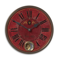 Uttermost Villa Tesio 11in Clock in Weathered Laminated Clock Face 06040