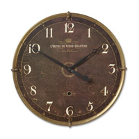 Uttermost Hotel Du Vieux Quartier Clock in Weathered Laminated Clock Face 06044