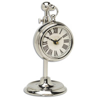 Uttermost Pocket Watch Nickel Marchant Cream Clock in Nickel Plated Brass 06070