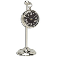 Uttermost Pocket Watch Nickel Marchant Black Clock in Nickel Plated Brass 06071