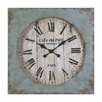 Uttermost Paron Clock in Distressed Aged Blue 06079