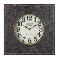 Uttermost Jardins Clock in Aged Black 06080