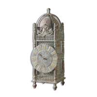 Uttermost Yaxha Table Clock in Light Chestnut Brown 06417