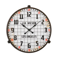 Max Rust Brown Wall Clock