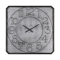 Uttermost Dominic Wall Clock in Galvanized Metal 06436