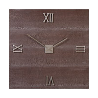 Uttermost Michaela Wall Clock in Brazilian Oak 06437