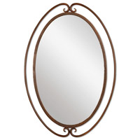 Kilmer 36 X 25 inch Wrought Iron Mirror Home Decor, Oval