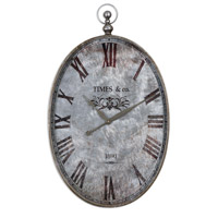 Uttermost 06642 Argento 35 X 21 inch Wall Clock