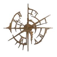 Uttermost Gallatin Clock in Oxidized Copper 06652