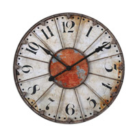 Uttermost Ellsworth Clock in Crackled Ivory 06664