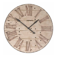 Uttermost Harrington Clock in Antiqued Ivory Face 06671