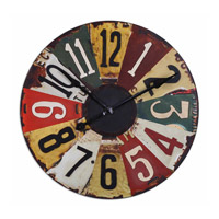 Uttermost Vintage License Plates Clock 06675