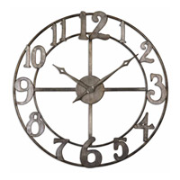 Uttermost Delevan Clock in Antiqued Silver Leaf 06681