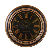 Uttermost Buckley Clock in Distressed Black 06683