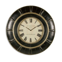 Uttermost Rudy Clock Home Accessory in Lightly Distressed Rustic Black 06709