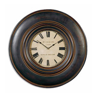 Uttermost Adonis Clock in Distressed Black 06724